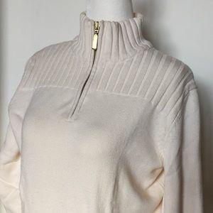 NWOT Karen Scott Sweater with Gold Zipper